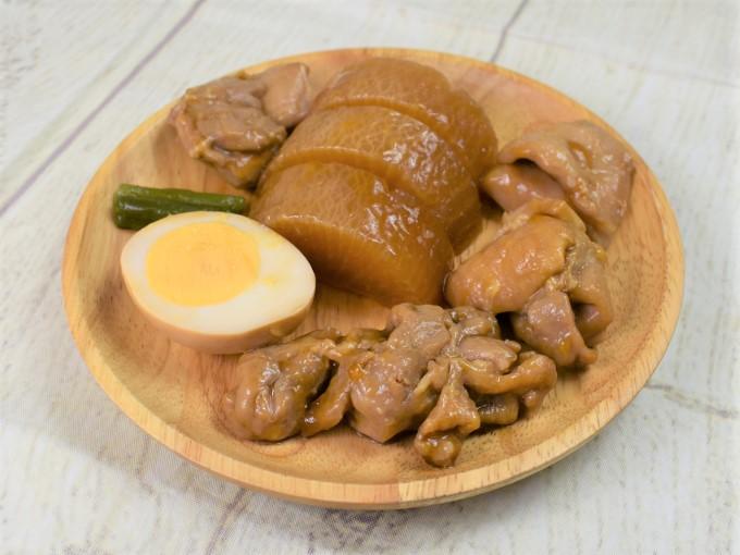お皿にのせた「味しみ鶏大根」の画像