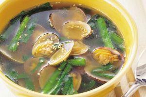 あさりの鉄分たっぷりスープ