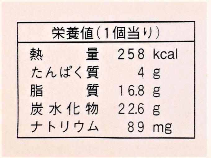 「アールグレイ香る紅茶のシフォンサンド」の栄養値の画像
