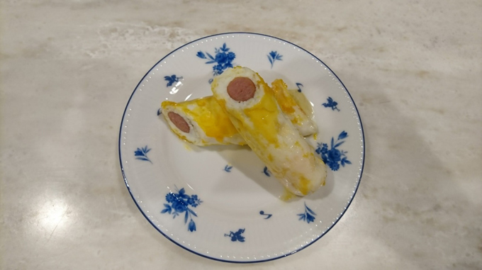 ウインナー入りの卵焼き