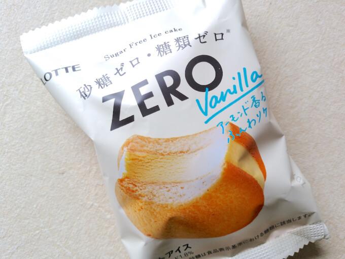 ZEROシリーズのアーモンド香るふんわりケーキのアイス