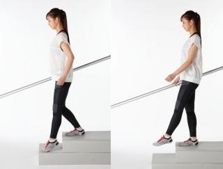 まずは1日100段からでOK! 階段を下りは最高の筋力アップ!