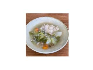トップ画像、雑穀スープできあがり