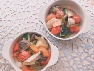 紫外線に負けない肌づくりに!「カラフル野菜ときのこのヘルシーアヒージョ」
