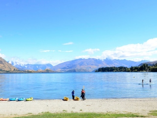 湖でサップ