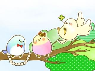 3羽の小鳥