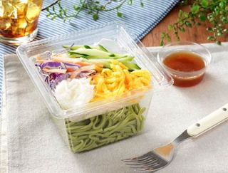 ほうれんそうを使用した麺サラダ! 和風ダレが味を引き締めるローソンの「とろろ芋と野菜のほうれんそう麺サラダ」