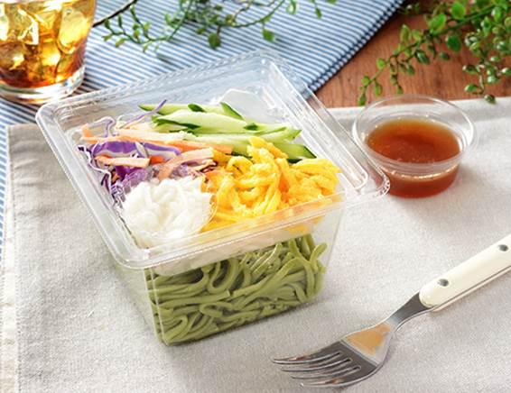 「とろろ芋と野菜のほうれんそう麺サラダ」の画像