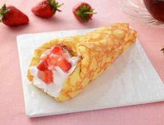 まろやか×甘酸っぱい王道クレープ☆ フレッシュないちごが味わえるローソンの「苺&バナナのクレープ包み」