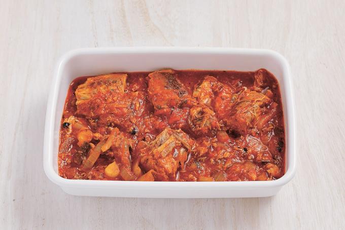 さば缶のトマト煮できあがり