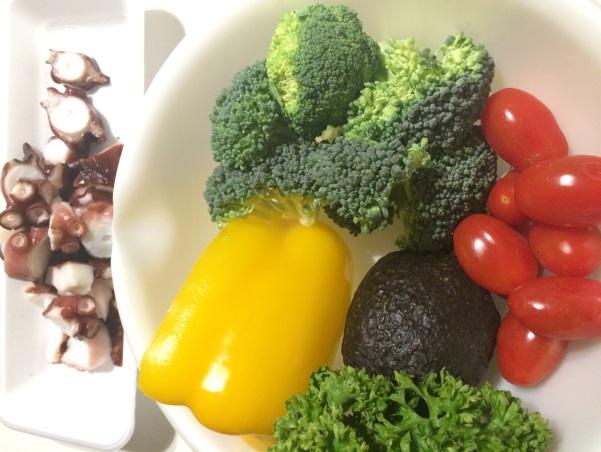 材料のたこや彩り野菜