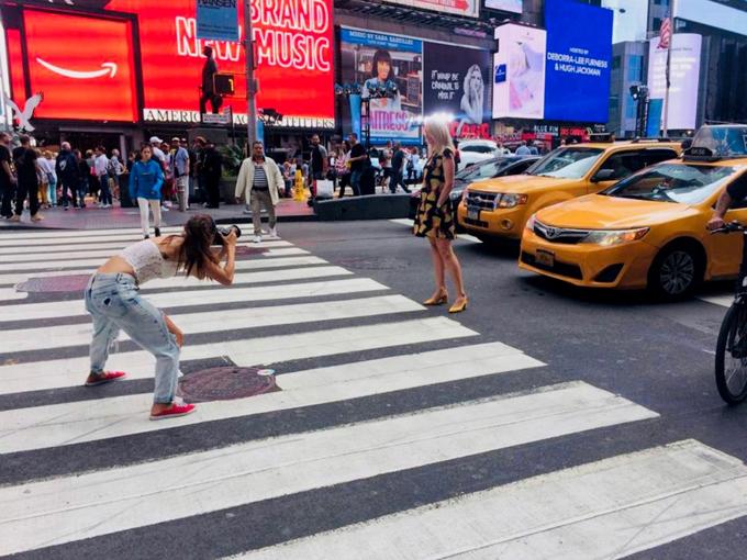 ニューヨークのどまんなかでの撮影も体験