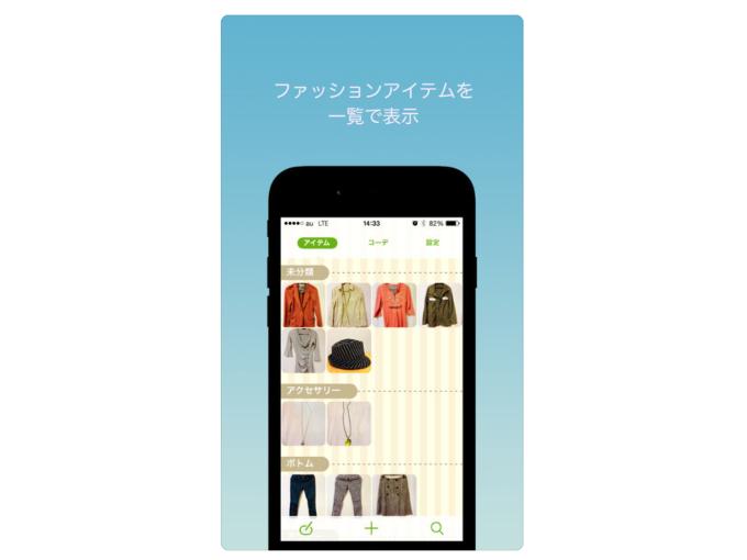 ファッションアイテムを一覧で表示した画像