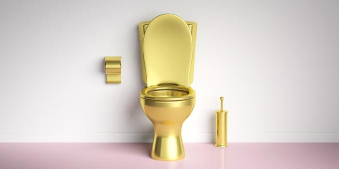 金色の便器写真