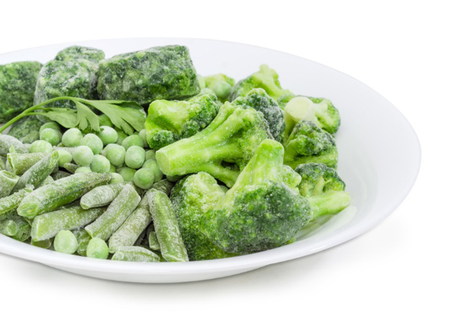冷凍のブロッコリーほか青菜野菜