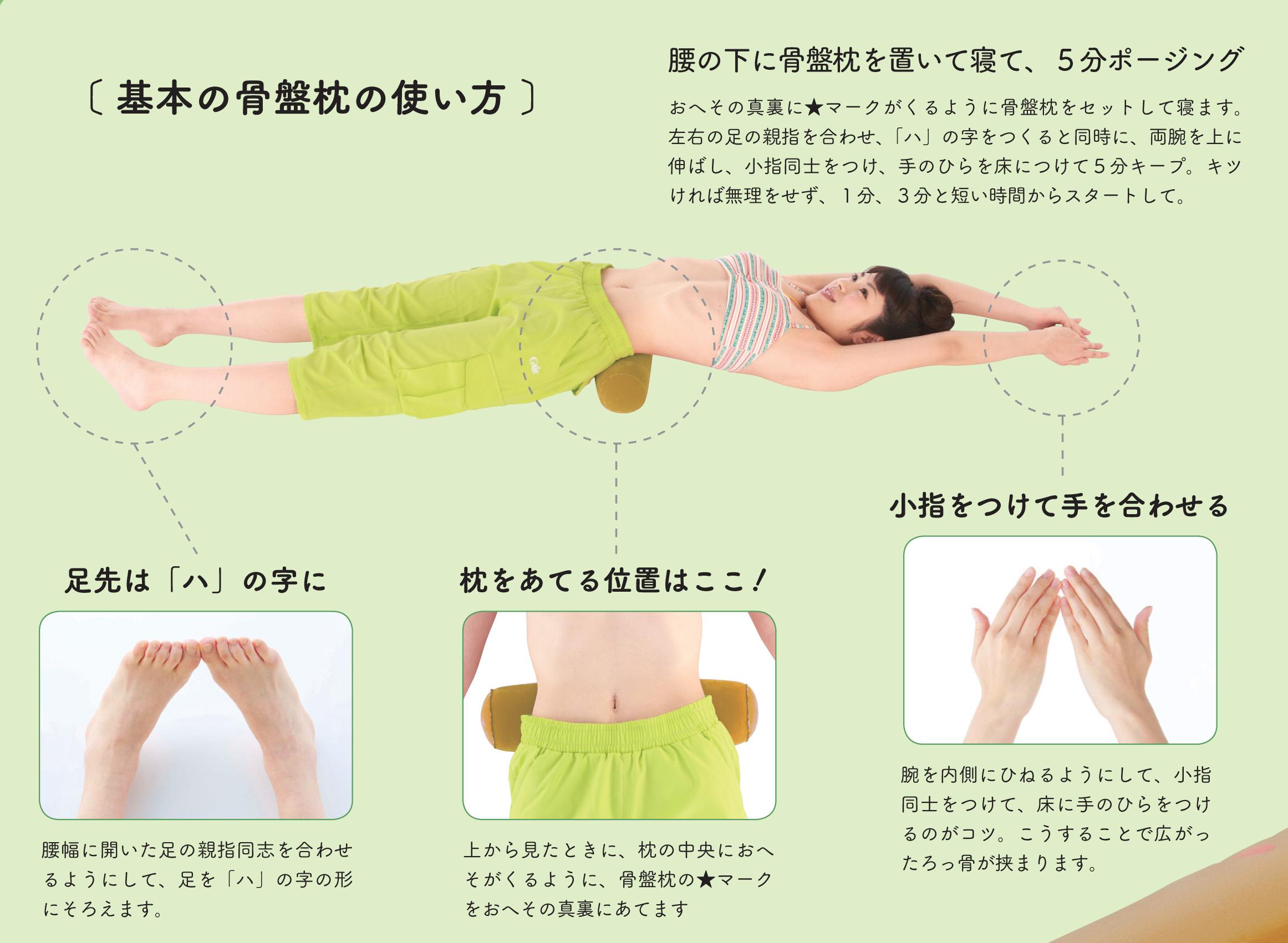 骨盤枕の使い方