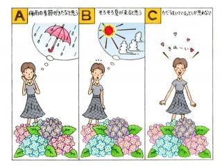【心理テスト】紫陽花がたくさん咲いています。あなたの感想は次のうちどれ?
