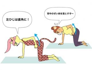 姿勢改善や背中のぜい肉を落とす「ひねりワンハンドローイング」