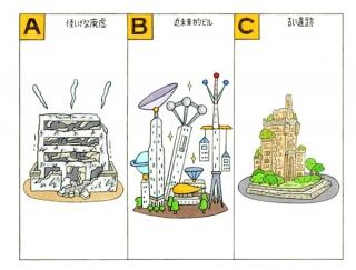 【心理テスト】長い夢を見ました。そこに出てきた建物はどんな建物?