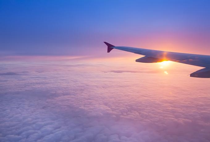 飛行機の中から見た外の景色