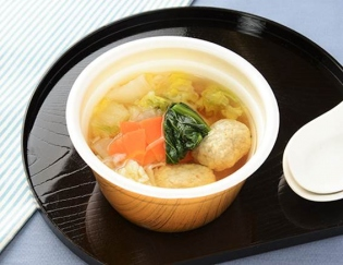 「九州産いわしとあじのつみれスープ」の画像