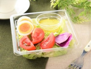 甘い果汁がジュワッと広がる高リコピントマト☆ レモンの香り漂うローソンの「高リコピントマトとたまごのサラダ」