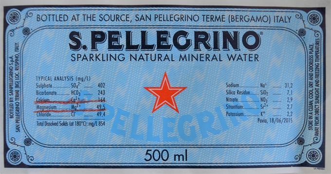 「サンペレグリノ」成分表の画像