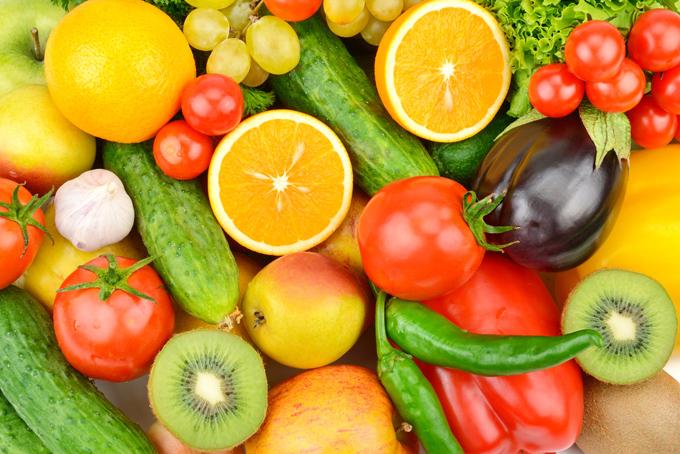 フルーツや野菜の集合