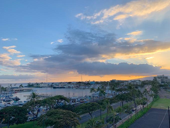 ハワイのきれいな海、景色