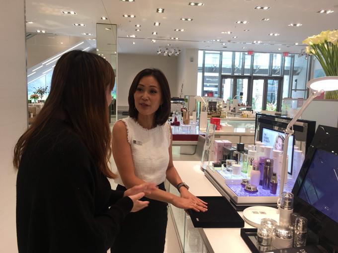 日本人の美容家さんとカウンセリング