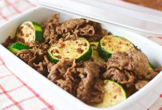 ズッキーニと牛肉のカレーソテー