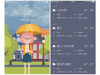 天気にぴったりのコーディネートをアバターが教えてくれるアプリ「WTHRD-天気と服」