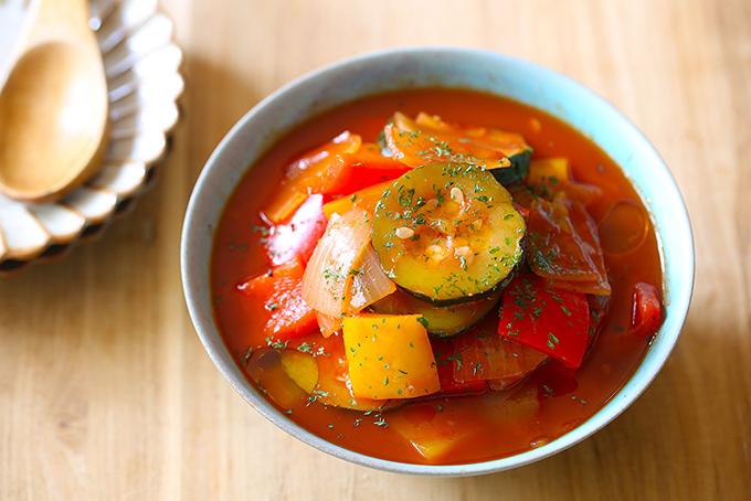 カラフル野菜のレンジラタトゥイユ