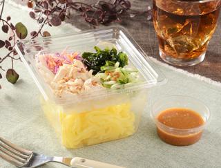 ローソンに低糖質なパスタサラダが新登場!「海藻と蒸し鶏のこんにゃく麺サラダ(ピリ辛ドレッシング)」を徹底レビュー