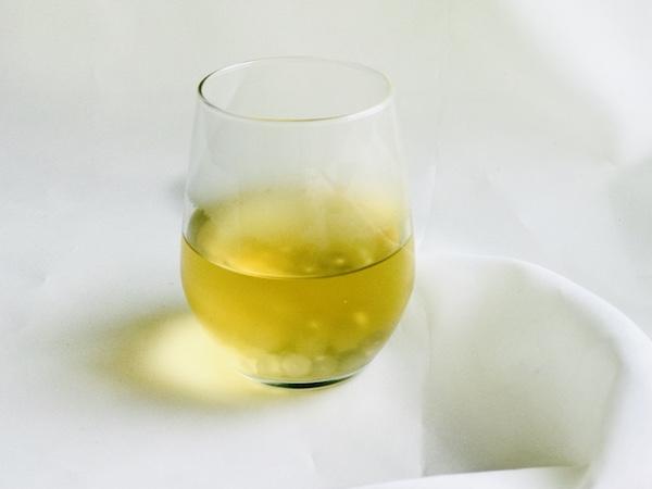 ジャスミン茶とタピオカ