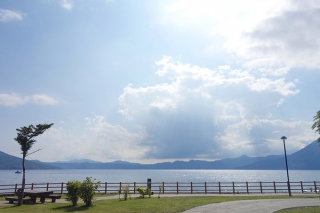 北海道の支笏湖