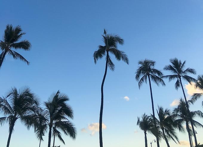 ハワイの空、景色