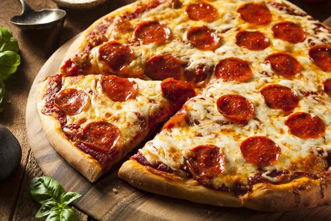 1枚のピザ