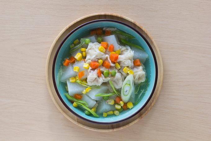 とうもろこしの冬瓜スープ