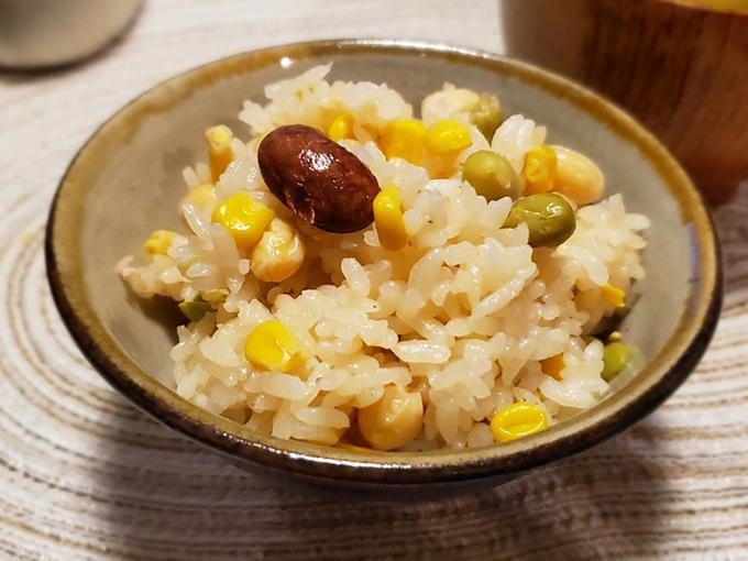トウモロコシと枝豆ご飯