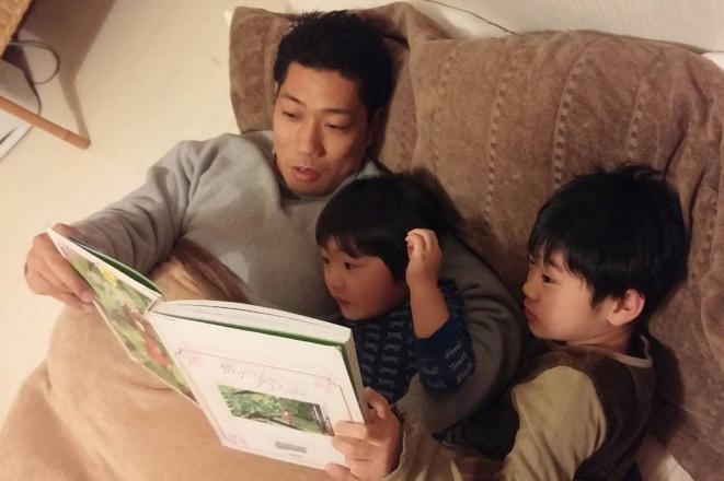 富田さんお子さんと一緒