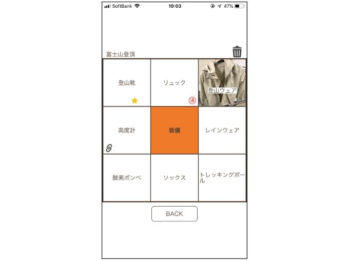 画像やリンクを挿入した目標達成表の画面