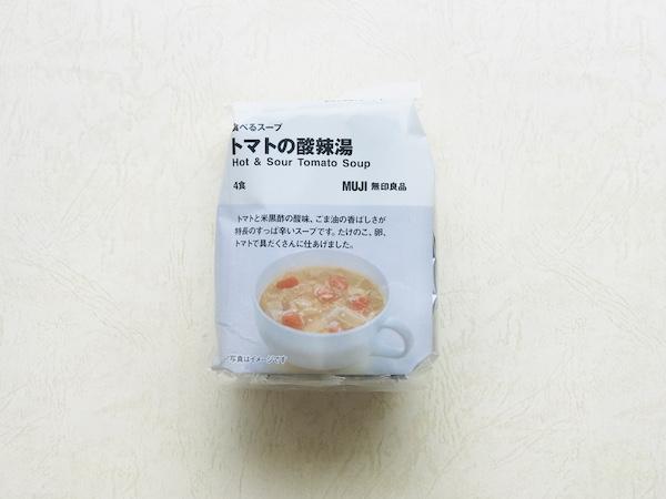無印のトマトの酸辣湯のパッケージ