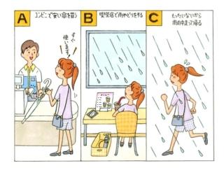 【心理テスト】急に雨が降ってきました。傘を持っていないあなたはどうする?