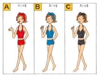 【心理テスト】新しい水着を買うことになりました。何色の水着を買う?