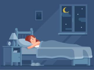 ピンクノイズで快眠する女性