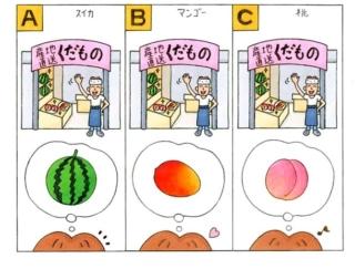 【心理テスト】フルーツの販売店があります。ひとつもらえるとしたら、何を選ぶ?