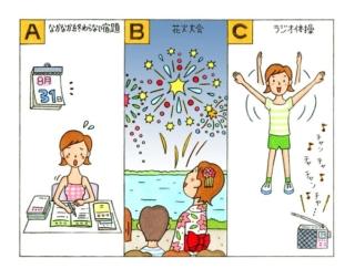 【心理テスト】夏休みの思い出と聞いて、まっさきに思い出すのは何?