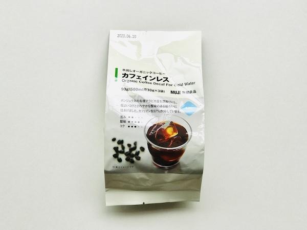 無印良品の「水出しオーガニックコーヒー カフェインレス」