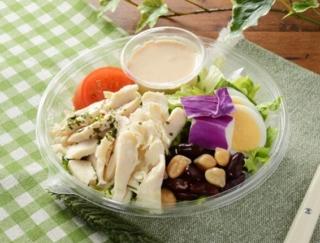 1食でたんぱく質が23.5g! 野菜とたんぱく質を豊富にとれるローソンの「1食分のプロテインサラダ(コブドレッシング)」